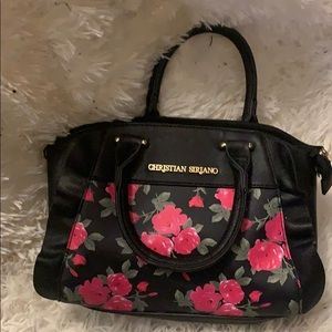 Christian Siriano bag with pink roses